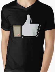 FACEBOOK X GHOSTBUSTERS (GB1) Mens V-Neck T-Shirt