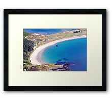 Silver Bay Beach Framed Print