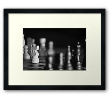 Chess Game - Your Move Framed Print