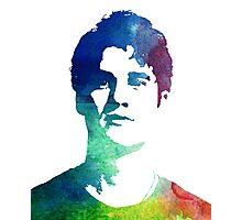 rainbow headshot Photographic Print