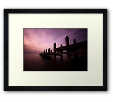 Sunset by the Jetty Framed Print