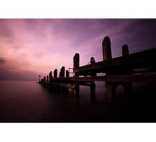 Sunset by the Jetty Photographic Print