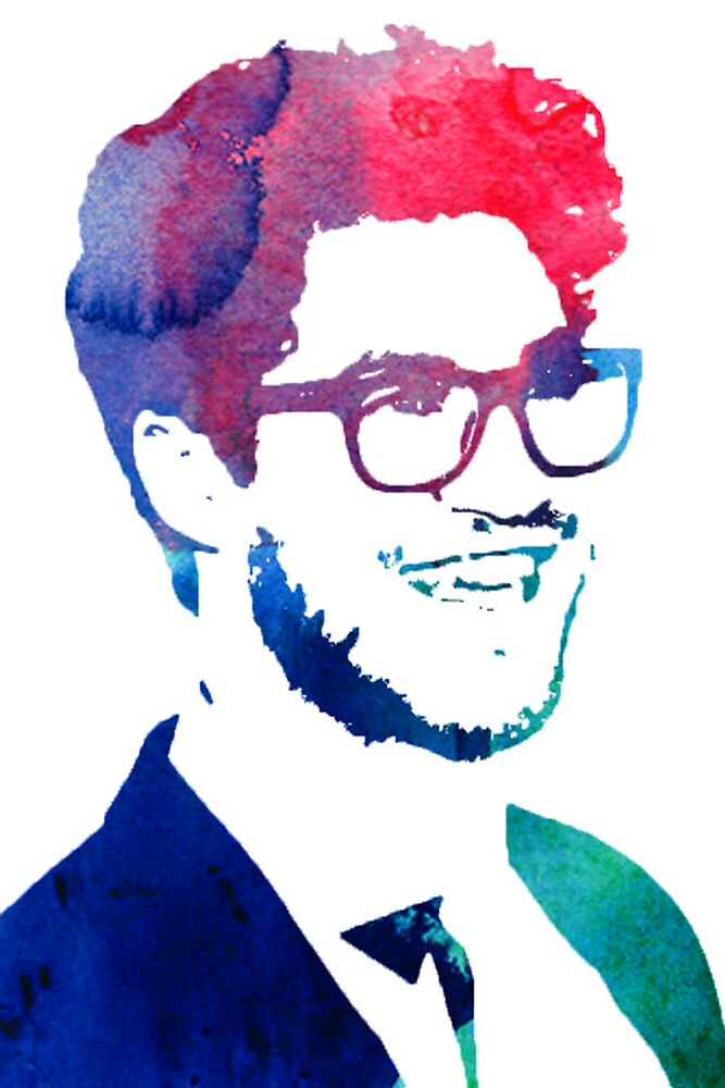 blue/green/pink glasses by cocosuspenders
