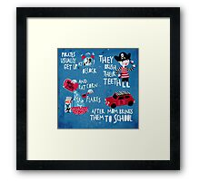 Good morning little pirate Framed Print