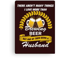 This Husband Loves Brewing Bee Canvas Print