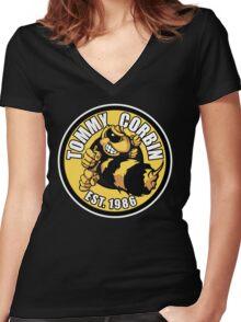 TOMMY CORBIN EST. 1986 Women's Fitted V-Neck T-Shirt