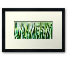 Watercolor Grass Framed Print