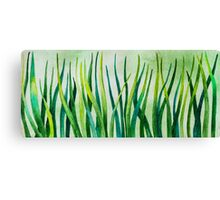 Watercolor Grass Canvas Print