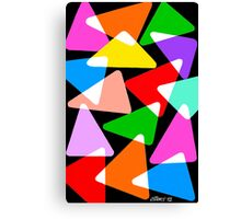15 COLORFUL TRIANGLES UPDATE Canvas Print