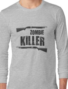 zombie killer shotgun Long Sleeve T-Shirt