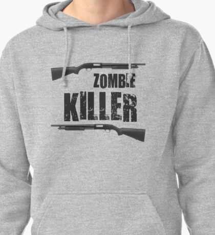 zombie killer shotgun Pullover Hoodie