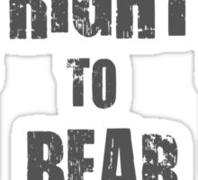 right to bear arms bw Sticker
