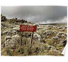Sleeping in Caves is Prohibited Poster