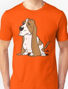 Basset cartoon dog T-Shirt