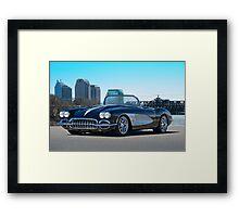 1958 Skyline Corvette Framed Print