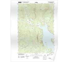 USGS TOPO Map New Hampshire NH Newfound Lake 20120508 TM Poster