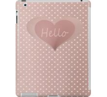 Nude Ipad Case with White Polka Dots iPad Case/Skin