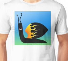 High-speed, gold-toothed snail Unisex T-Shirt