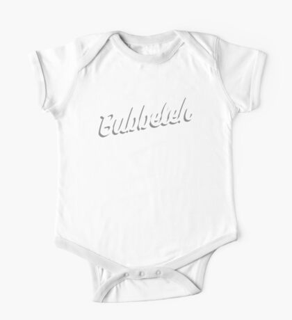 Bubbeleh! Handlettered Yiddish One Piece - Short Sleeve