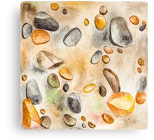 Watercolor Ground Stones Background Canvas Print