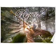 Rejoice, a King is born! - Christmas Card Poster