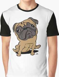Cartoon Pug dog Graphic T-Shirt