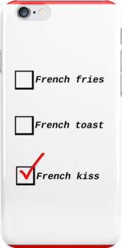 French kiss check box - iphone case by PreteMoiParis