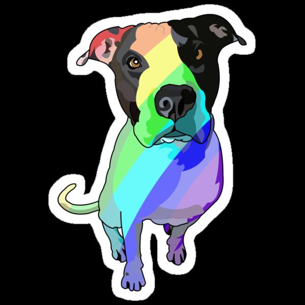 Big head, big heart - pretty rainbows! by misskeays