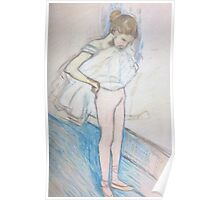 Reproduction of 'Dancer adjusting her tights' by Henri de Toulouse-Lautrec Poster