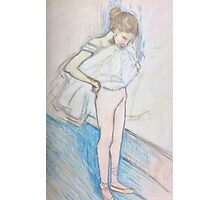 Reproduction of 'Dancer adjusting her tights' by Henri de Toulouse-Lautrec Photographic Print