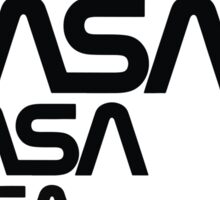 NASA Logotype from the Graphics Standards Manual Sticker