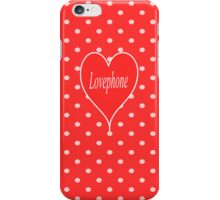 Lovephone-Iphone Red iPhone Case/Skin