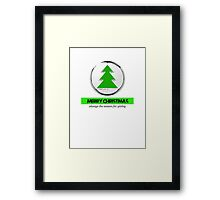 merry Christmas the season for giving Framed Print