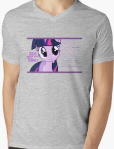 What else could anyone possibly ask for? (Twilight Sparkle) Mens V-Neck T-Shirt