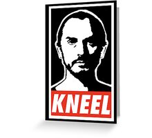 Obey Zod Greeting Card