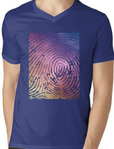 Rainbow Fingerprint. Mens V-Neck T-Shirt