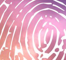 Rainbow Fingerprint. Sticker