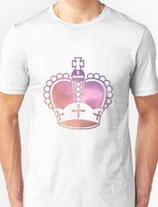 Rainbow Crown Sticker Unisex T-Shirt