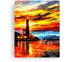 By The Lighthouse Canvas Print