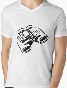 Binoculars. Mens V-Neck T-Shirt