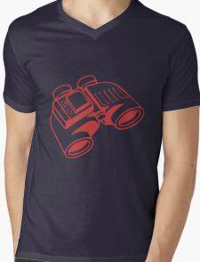 Red Binoculars Mens V-Neck T-Shirt