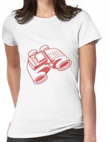 Red Binoculars Womens Fitted T-Shirt