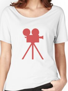 Red Tripod. Women's Relaxed Fit T-Shirt