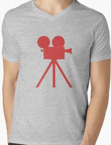 Red Tripod. Mens V-Neck T-Shirt
