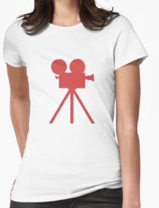 Red Tripod. Womens Fitted T-Shirt