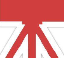 Red Tripod. Sticker