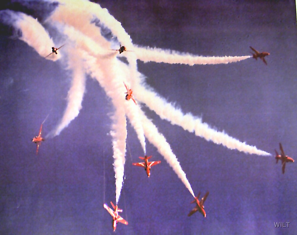 Bomb Burst by The Red Arrows by WILT