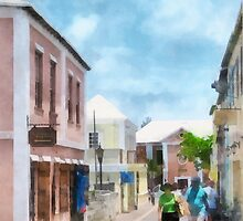 A Street in St. George's Bermuda by Susan Savad