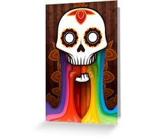 Colors of the dead Greeting Card