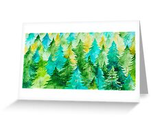 Watercolor Forest Background Greeting Card